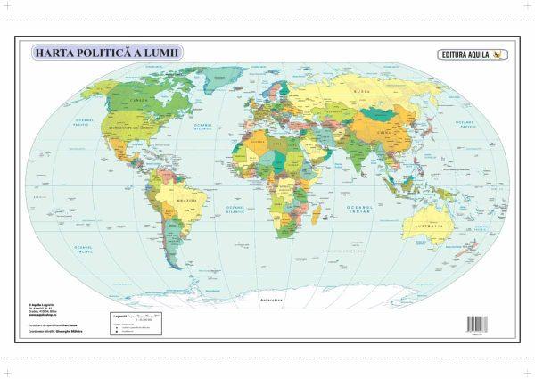 Harta fizica si administrativa a Lumii 3