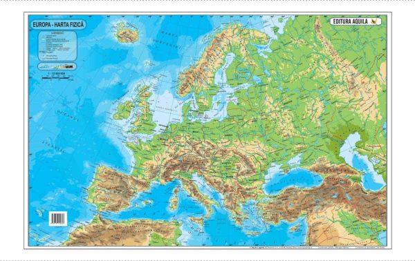 Harta fizica si administrativa a Europei 2