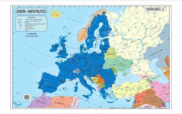 Harta fizica si administrativa a Europei 3