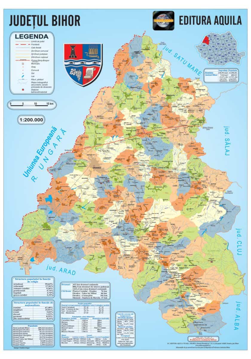 Harta Judetului Bihor Materialedidactice Ro