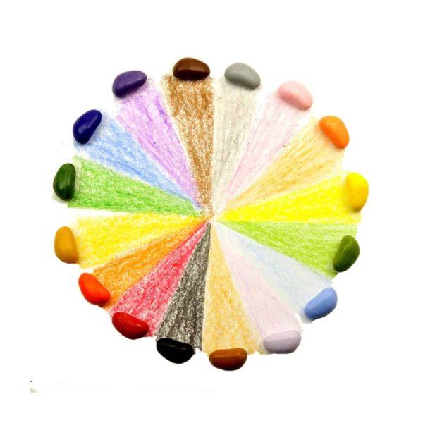 Set de 16 creioane cerate in forma de pietricele 1