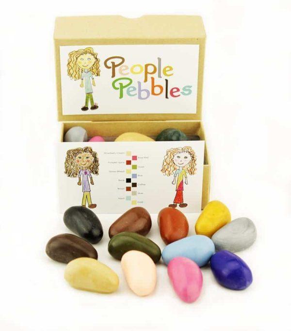 Set creioane de colorat People Pebbles 12 culori 1