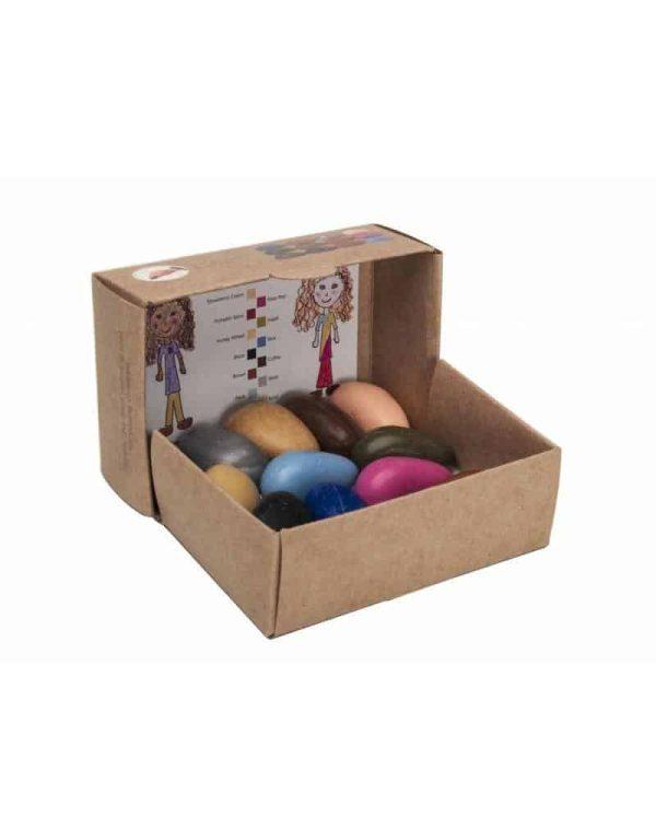 Set creioane de colorat People Pebbles 12 culori 6