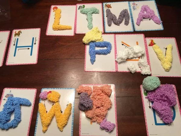 Spuma de modelat - Set Alfabetul 6