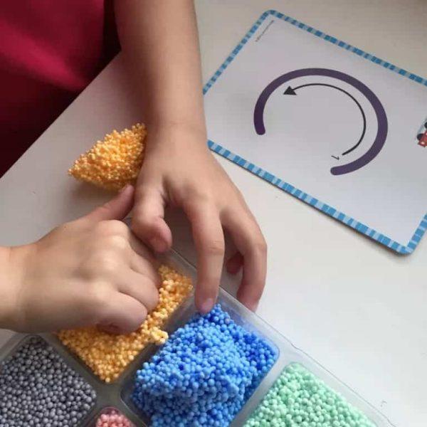 Spuma de modelat - Set Alfabetul 10