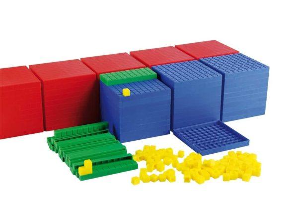 Sistemul zecimal, cuburi in baza 10, set pentru clasa 3
