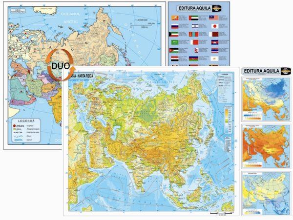 Harta fizica si administrativa Asia 1