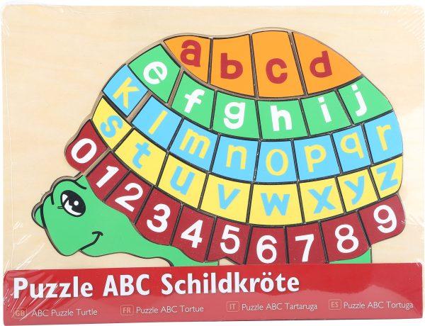 Puzzle din lemn ABC broasca testoasa 2