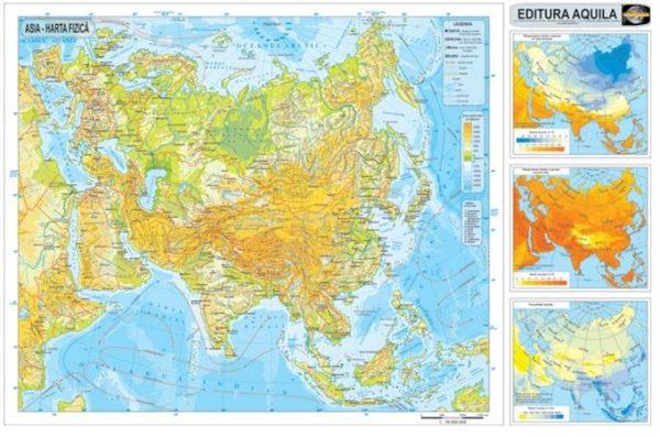 Harta fizica si administrativa Asia 2