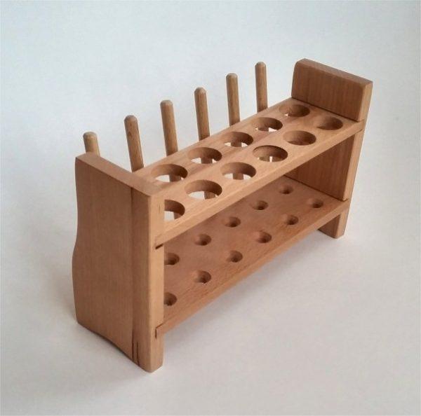 Stativ pentru eprubete mari - lemn 3